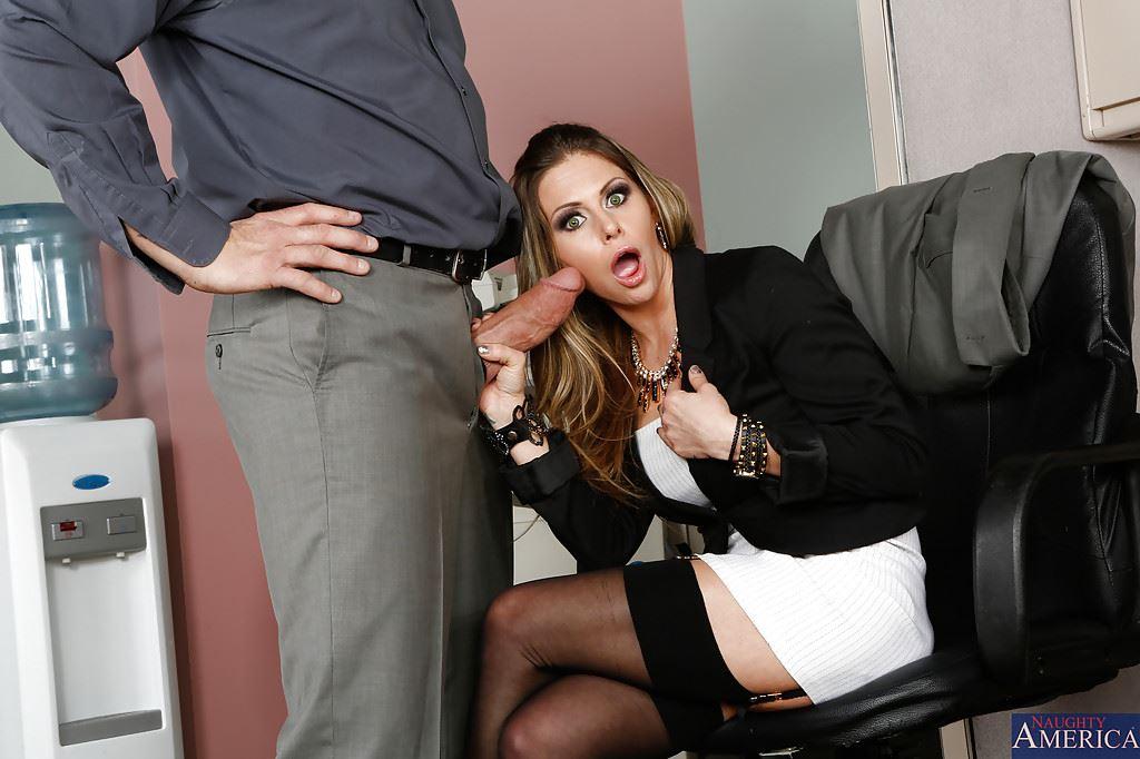 My New Secretary Sucks Me In Office